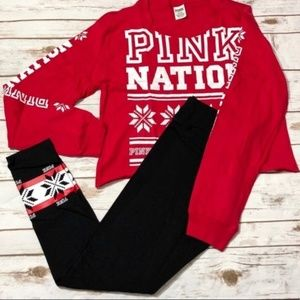 Pink holiday outfit nwt